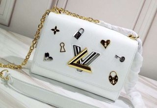 Louis Vuitton Love Lock Epi Leather Twist MM Bag M52890 Blanc