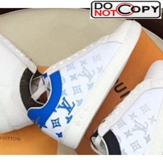 Louis Vuitton Luxembourg Monogram Leather Sneakers Blue (For Women and Men)
