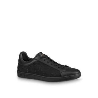 Louis Vuitton LUXEMBOURG Trainers Sneakers in Transparent Textile Black(For Women And Men)