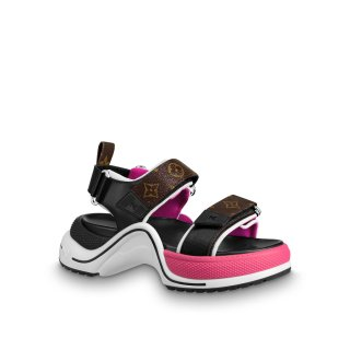 Louis Vuitton LV Archlight Contrasting Sporty Sandals Pink