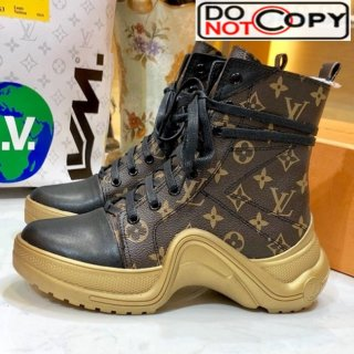Louis Vuitton LV Archlight Sneaker Boot Coffee Monogram