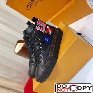 Louis Vuitton LV Black Heart STELLAR Sneaker Boot Black