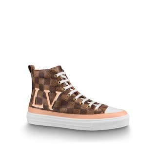 Louis Vuitton LV Damier Canvas High top Stellar Sneaker Boots 1A5NAC