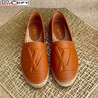 Louis Vuitton LV Grained Leather Espadrilles Brown
