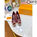 Louis Vuitton Madeleine Suede Crystal LV Circle Pump Burgundy