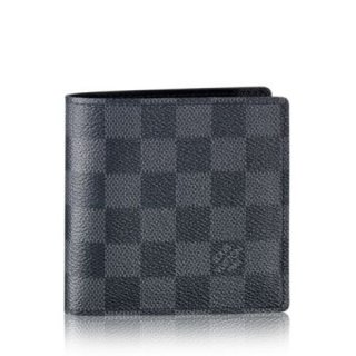 Louis Vuitton Marco Wallet Damier Graphite N62664