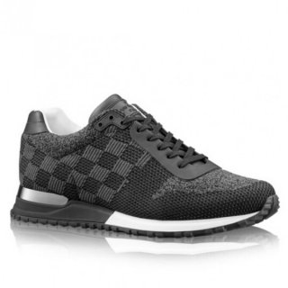 Louis Vuitton Men Black Run Away Sneaker Damier