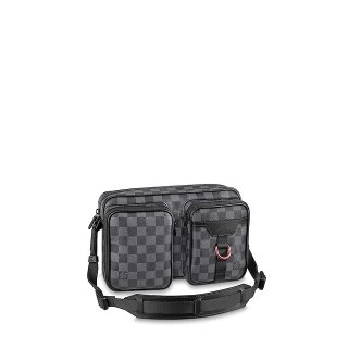 Louis Vuitton Men's Utility Messenger Shoulder Bag N40280 Damier Graphite Canvas