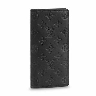 Louis Vuitton Men's Brazza Wallet in Monogram Embossed Leather M62900 Black
