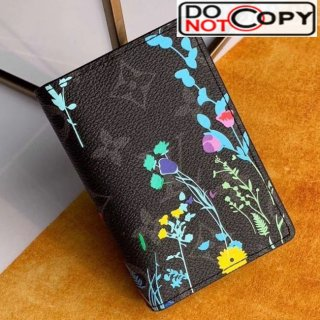 Louis Vuitton Men's Flora Print Monogram Canvas Pocket Organizer Wallet M61696