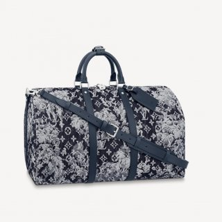 Louis Vuitton Men's Keepall Bandouliere 50 Travel Bag in Monogram Tapestry Canvas M57285