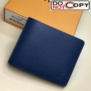 Louis Vuitton Men's Slender ID Epi Leather Wallet M60628 Blue