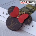Louis Vuitton Mickey Mouse Bag Charm and Key Holder Red