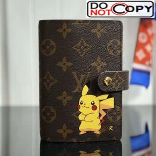 Louis Vuitton Monogram Canvas Pikachu Print Small Ring Agenda Book Cover R20005 07