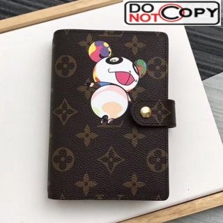 Louis Vuitton Monogram Canvas Print Small Ring Agenda Book Cover R20005 09