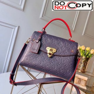 Louis Vuitton Monogram Empreinte Leather Georges MM Bag Navy Blue M53945