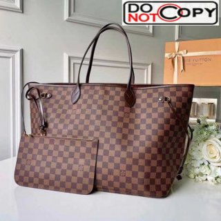 Louis Vuitton Neverfull GM Damier Ebene Canvas Tote Bag N41357 Red