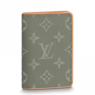 Louis Vuitton Pocket Organizer Monogram Titanium M63233