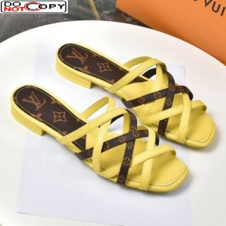 Louis Vuitton Revival Strap Flat Slide Sandals Yellow