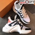 Louis Vuitton Sci fi Sneakers Black White Orange New Color