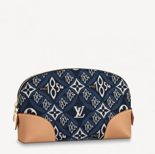 Louis Vuitton Since 1854 Pochette Cosmetique Cosmetic Pouch M80307 Blue