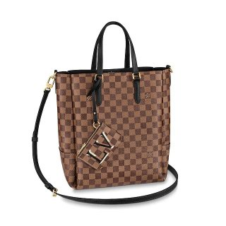 Louis Vuitton Skyline Damier Ebene Canvas Bucket Tote Bag N60294 Black
