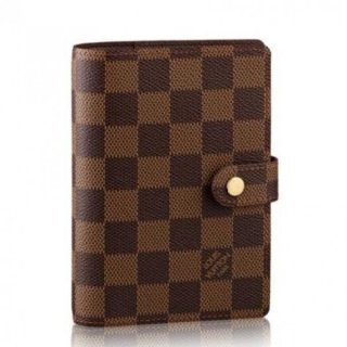 Louis Vuitton Small Ring Agenda Cover Damier Ebene R20700