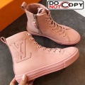 Louis Vuitton Stellar Oversized LV High Top Sneaker Boot 1A5MQR Pink