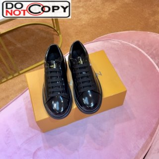 Louis Vuitton Time Out Patent Leather Oversized LV Sneakers Black