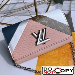 Louis Vuitton Twist Graphic Tape Chain Wallet WOC M67798 Pink