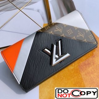 Louis Vuitton Twist Graphic Tape Long Flap Wallet M60996 Black