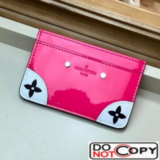 Louis Vuitton Venice Card Holder in Patent Leather M67639 Hot Pink
