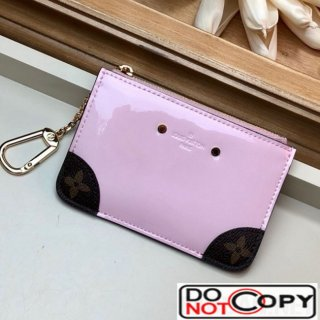 Louis Vuitton Venice Key Pouch in Patent Leather M63853 Light Pink