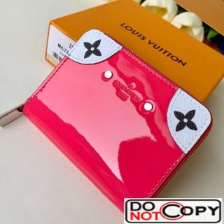 Louis Vuitton Venice Zippy Coin Purse in Patent Leather M67665 Pink