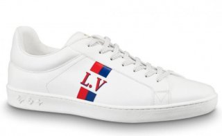 Louis Vuitton White LV Luxembourg Sneakers