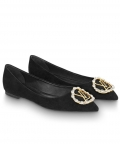 Louis Vuitton Womens Madeleine Ballerina 1A4VB1 Black