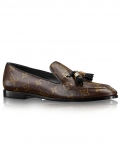 Louis Vuitton Womens Society Loafer 1A2XRD Brown
