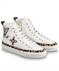 Louis Vuitton Womens Stellar Sneaker Boot 1A5NP8 White