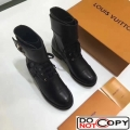 Louis Vuitton Wonderland Ranger Ankle Boots 1A1IY6 Black Leather