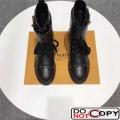 Louis Vuitton Wonderland Ranger Ankle Boots 1A3HUK Black Studs Leather