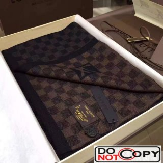Louis Vuitton Wool Scarf For Men Coffee