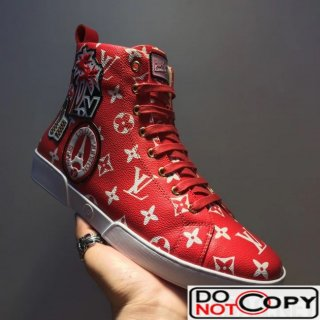 Louis Vuitton World Tour Sneaker Boot 1A2R4V For Men Red
