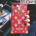 Louis Vuitton X Supreme Petite Malle Iphone Cover Case Monogram Canvas Red