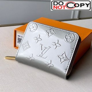Louis Vuitton Zippy Coin Purse in Monogram Patent Calfskin M60067 Silver