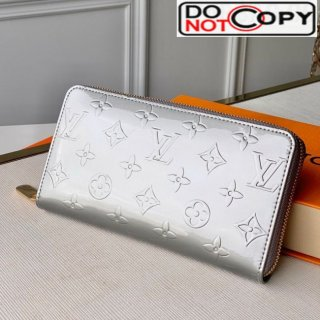 Louis Vuitton Zippy Long Wallet in Monogram Patent Calfskin M60017 Silver