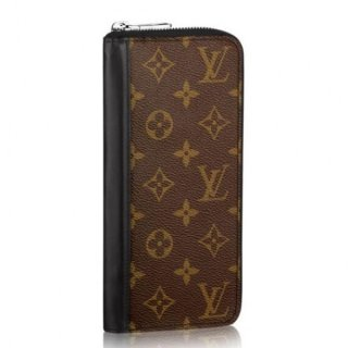 Louis Vuitton Zippy Wallet Vertical Monogram Macassar M60109