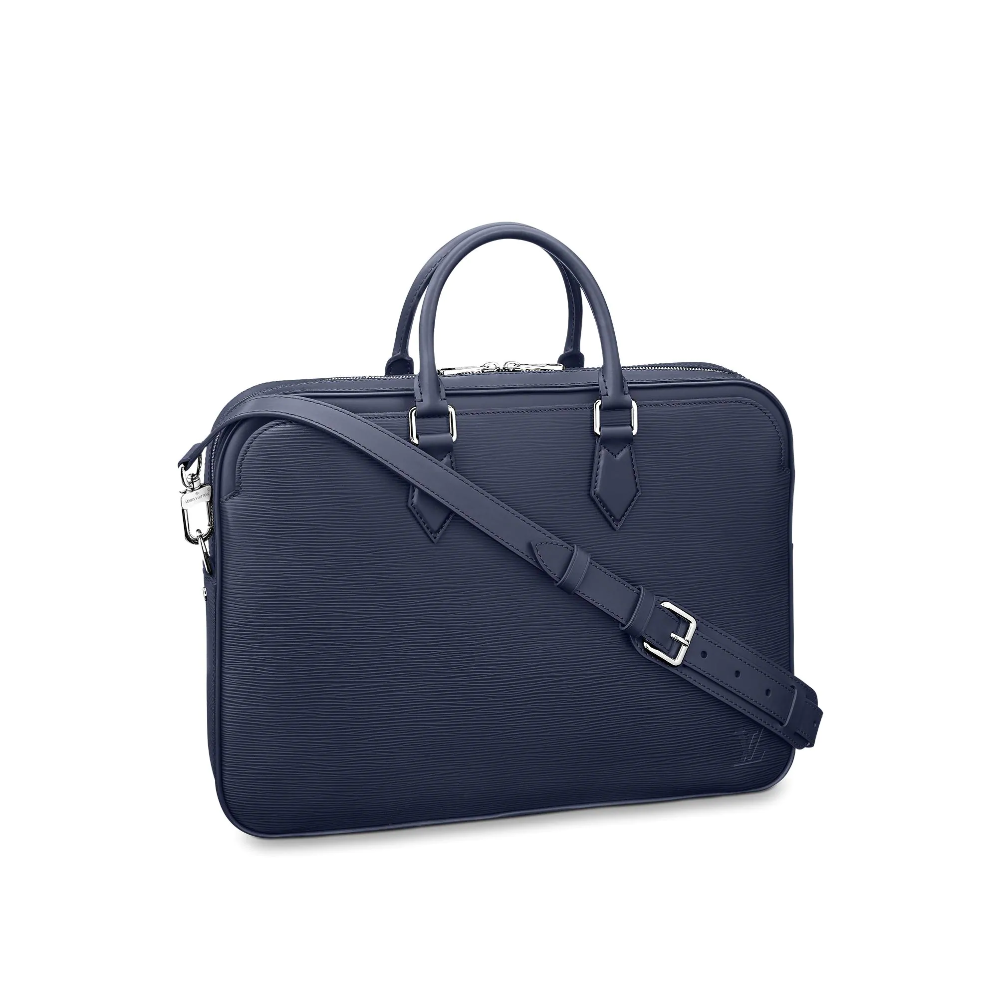 Louis Vuitton Men Dandy Briefcase Top Handle Bag in Epi Leather M54405 Blue