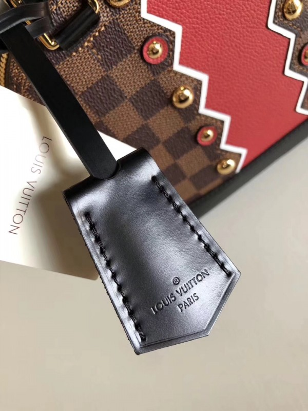 Louis Vuitton Alma BB Bag Damier Ebene Studs N40046