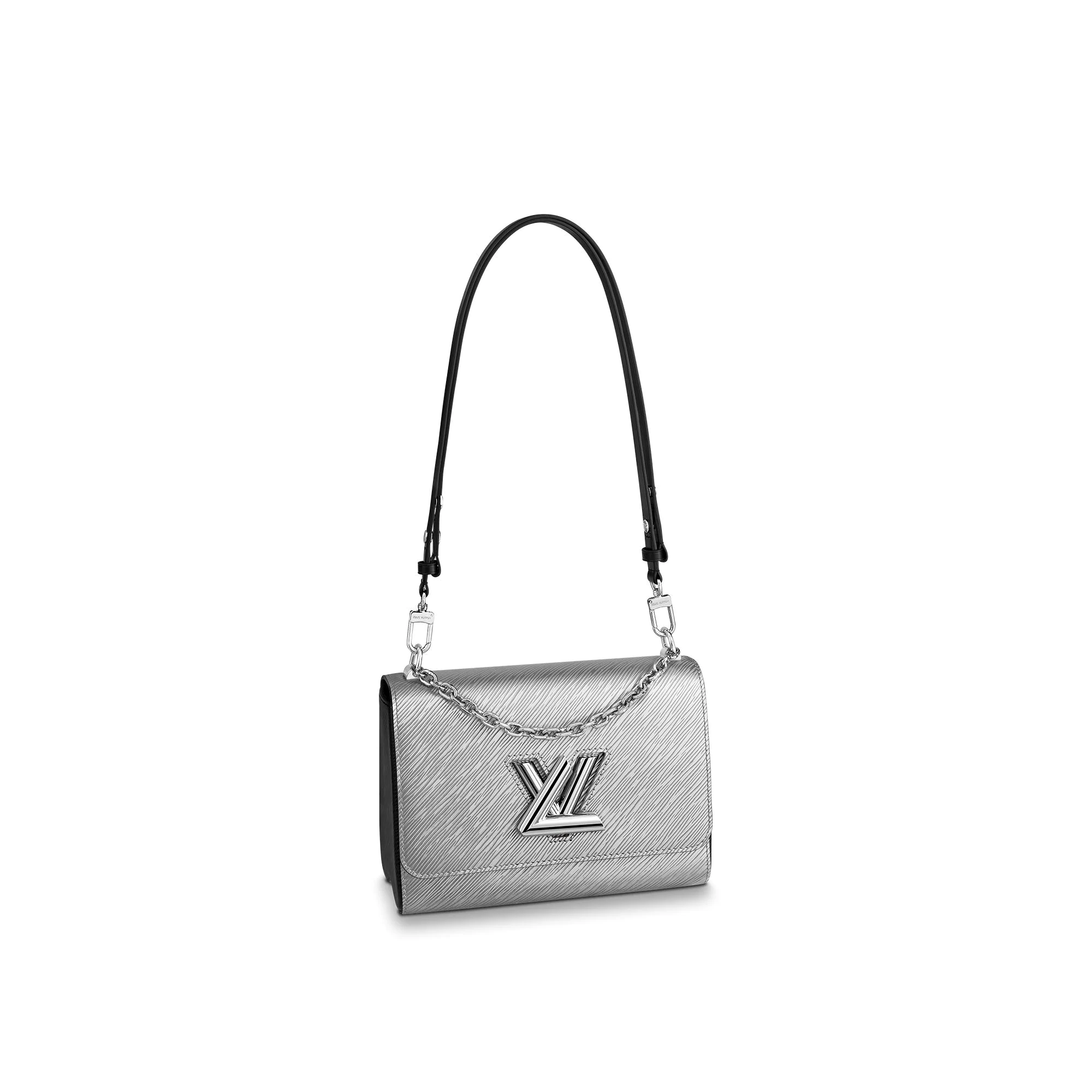Louis Vuitton Twist MM Epi Leather Bag M55404 Silver
