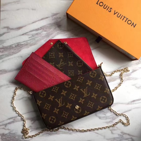 Louis Vuitton Pochette Felicie Monogram Canvas M62416